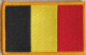 Belgium Embroidered Flag Patch, style 08.